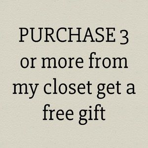 Other - By 3 get a free gift only for a week